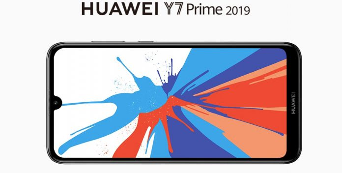 HUAWEI Y7 Prime 2019 design. that was launched early this year