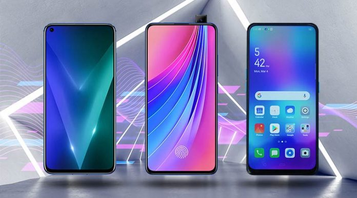 OPPO F11 Pro back and front displays.