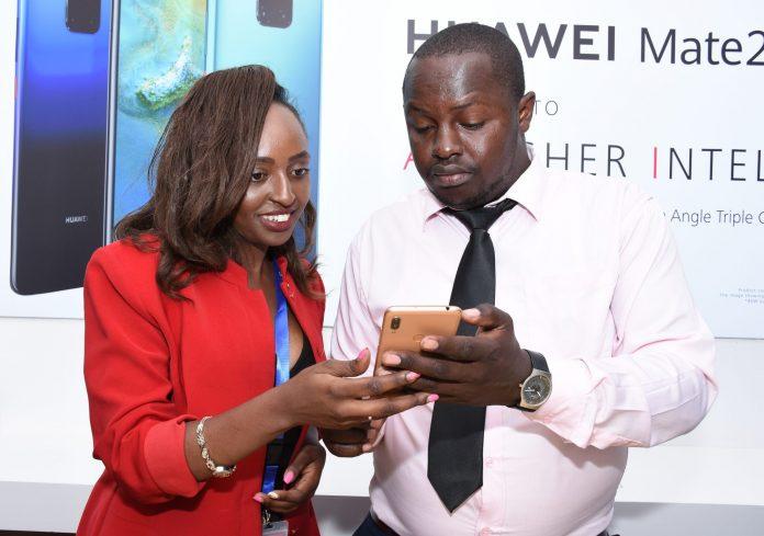 Winnie Nzisa Lipa Later Account Manager and Derrick Alenga Training Manager Huawei Device Kenya.