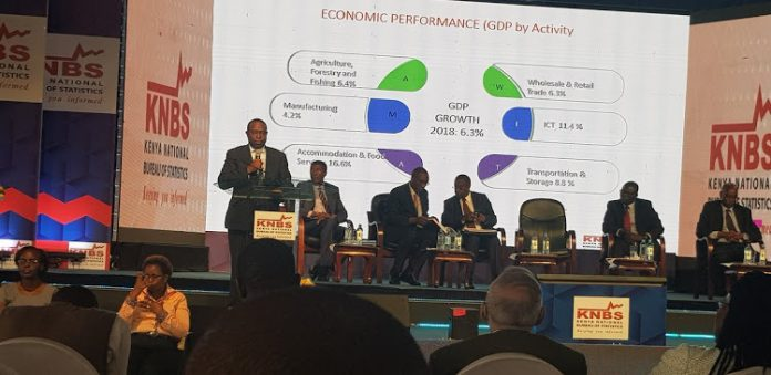 Treasury CS Henry Rotich speaks at the launch of the 2019 Economic Survey Image: Courtesy