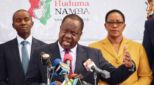 MATIANG'I-Adressing the issue on Huduma namba (Image: Courtesy )