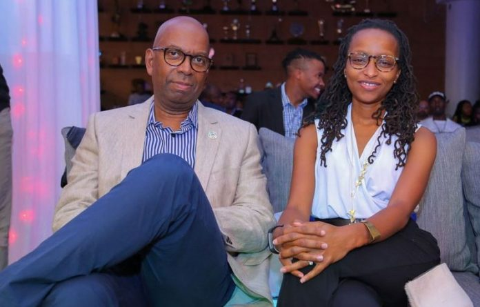 Bob Collymore with his wife wambui kamiru. Photo: Courtesy