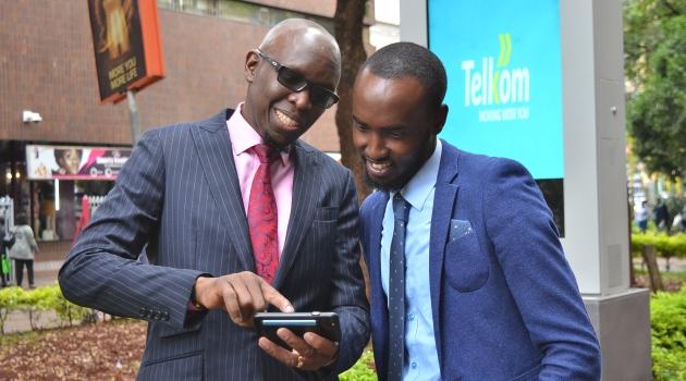 Kris Senanu Managing Director Telkom Enterprise (Left) with Managing Director of Meelin Davis Nyamari during the launch/Courtesy