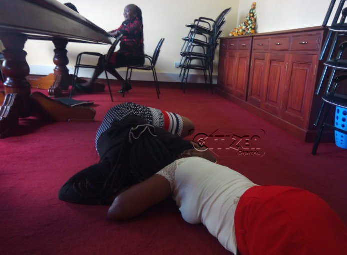 Images: Bomet County staff overcome by grief on learning of the death of Governor Joyce Laboso #RIPLaboso