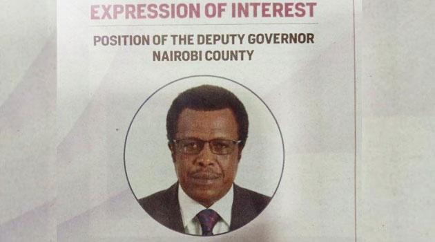 Meet the man who runs Sh130,000 newspaper ad asking Sonko to appoint him as Nairobi DG