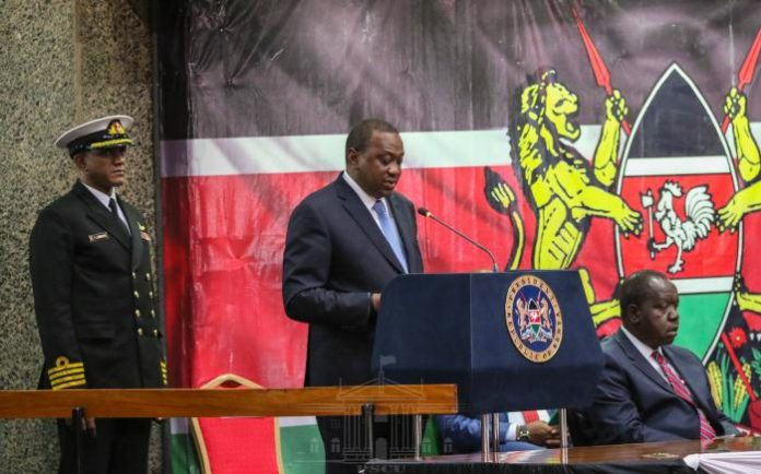 President Uhuru Kenyatta at KICC, Nairobi, when he launched the countdown to the 2019 Kenya Population and Housing Census.