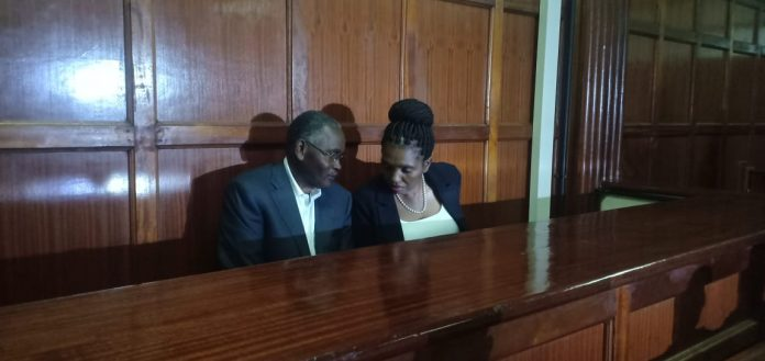 Tabitha and Joseph Karanja in court on August 23, 2019.