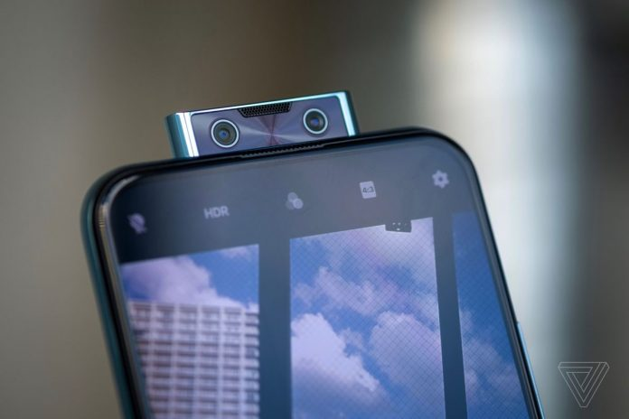 The new device the V17 pro, the first in the industry dual pop up camera - Image/ The verge