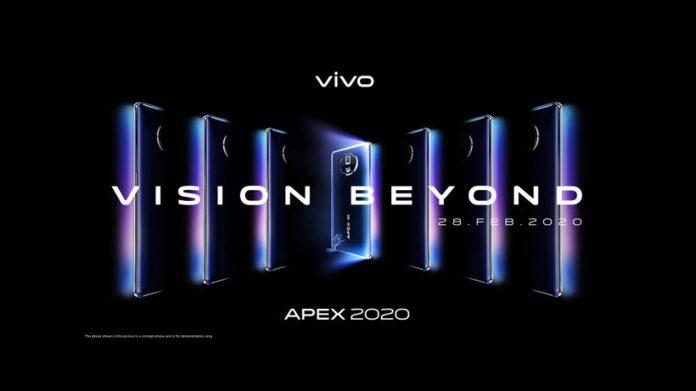 vivo APEX 2020 concept phone coming February 28