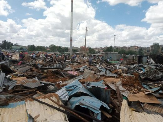Kariobangi Residents Protest Evictions That Left Them Homeless