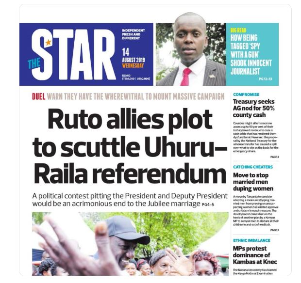 How to Subscribe To the Star And People Daily Newspapers For Sh10
