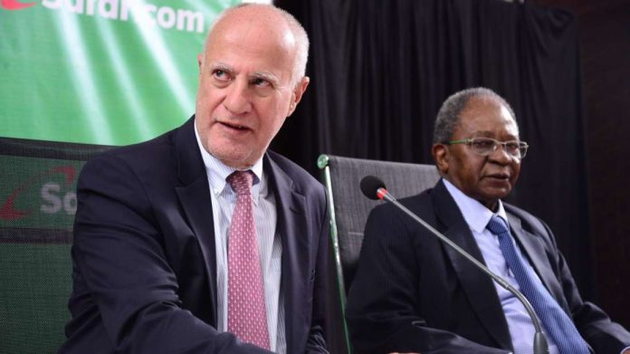 Michael Joseph (left) will take over as board chairman following the retirement of Nicholas Nga'ng'a (right).